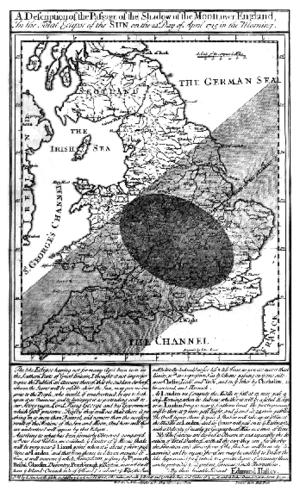 Solar eclipse of May 3, 1715 - Image: Solar eclipse 1715May 03 Halley map