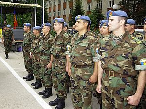Armed Forces of the Republic of Moldova - Moldovan soldiers in June 2004.