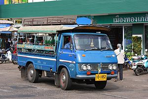 Isuzu Elf - KA50 Elf, in use as a Songthaew in Thailand
