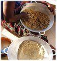 Soungouf - millet flour 6. wetting declumping.jpg