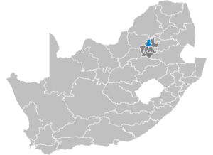 District Tshwane in Zuid-Afrika