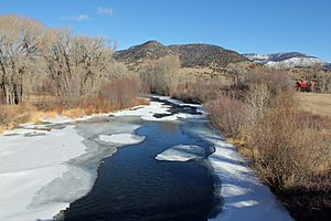 South Fork Rio Grande - The river in South Fork, Colorado, just before it empties into the Rio Grande.