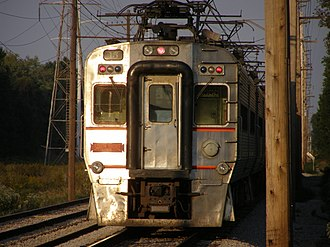 South Shore Line - Tail end of a South Shore train