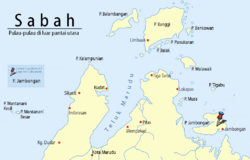 Location of Jambongan Island in Sulu Sea