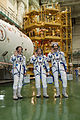 Soyuz TMA-09M crew during the 'fit check'.jpg