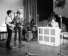 The Spencer Davis Group rehearsing before a performance in Amsterdam in 1966.