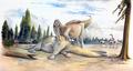 Spinosaurid and Kinnareemimus.PNG