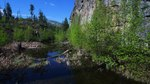 File:Spring Morning over a Frog Pond at the base of a face of Okanagan Mountain.webm