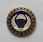 Srebrna Odznaka Skoczka Spadochronowego FAI.jpg