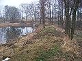 Stěžov, Mlýnský rybník, hráz.jpg