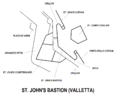 St. John's Bastion Valletta map.png