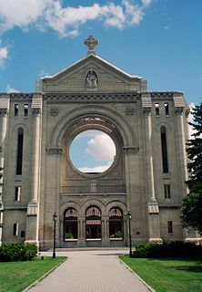 Saint Boniface Cathedral church building in Manitoba, Canada