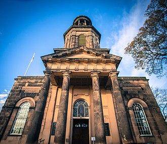 St Chad's Church, Shrewsbury - Palladian style entrance to the church