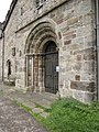 St Mary's west door and a bench mark - geograph.org.uk - 1900447.jpg