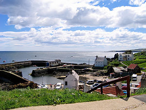 St Abbs - St Abbs harbour as seen from the coastal path.
