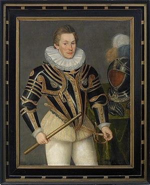 Siege of Groningen (1594) - Maurice of Orange - painting by Daniël van den Queborn