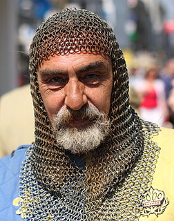 Mail coif chainmail covering for the head and neck