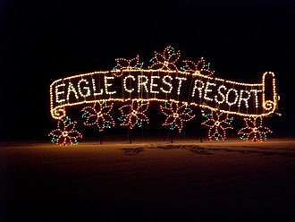 Eagle Crest Resort - Entrance to StarFest light display at Eagle Crest Resort