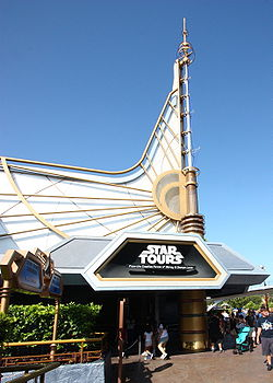 The Star Tours attraction entrance at Disneyland in Anaheim, California, United States.