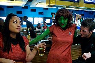 Orion (Star Trek) - A Star Trek fan in an Orion costume