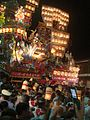 State of the night Hita Gion festival opposition of the Fuda no tuji street.JPG