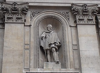 Hugh Myddelton - Statue of Sir Hugh Myddelton on the Royal Exchange, London