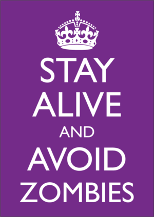 Keep Calm and Carry On - A 2009 parody of the poster
