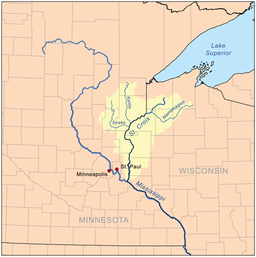St Croix River WisconsinMinnesota Wikipedia - Minnesota rivers map