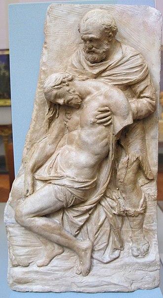 Stefano Maderno - Image: Stefano maderno, nicodemo tiene cristo in pietà, roma, 1605