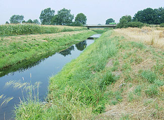 Steinfurter Aa about 500 m before the confluence with the Vechte