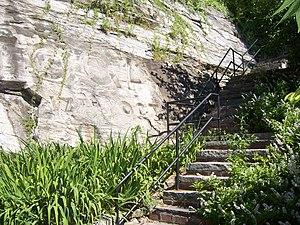 Kosciuszko's Garden - Steps leading up from the garden, July 2008