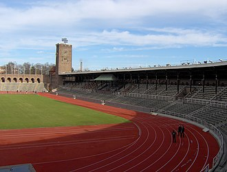 Stockholm Olympic Stadium - Image: Stockholms Stadion Sections A to G