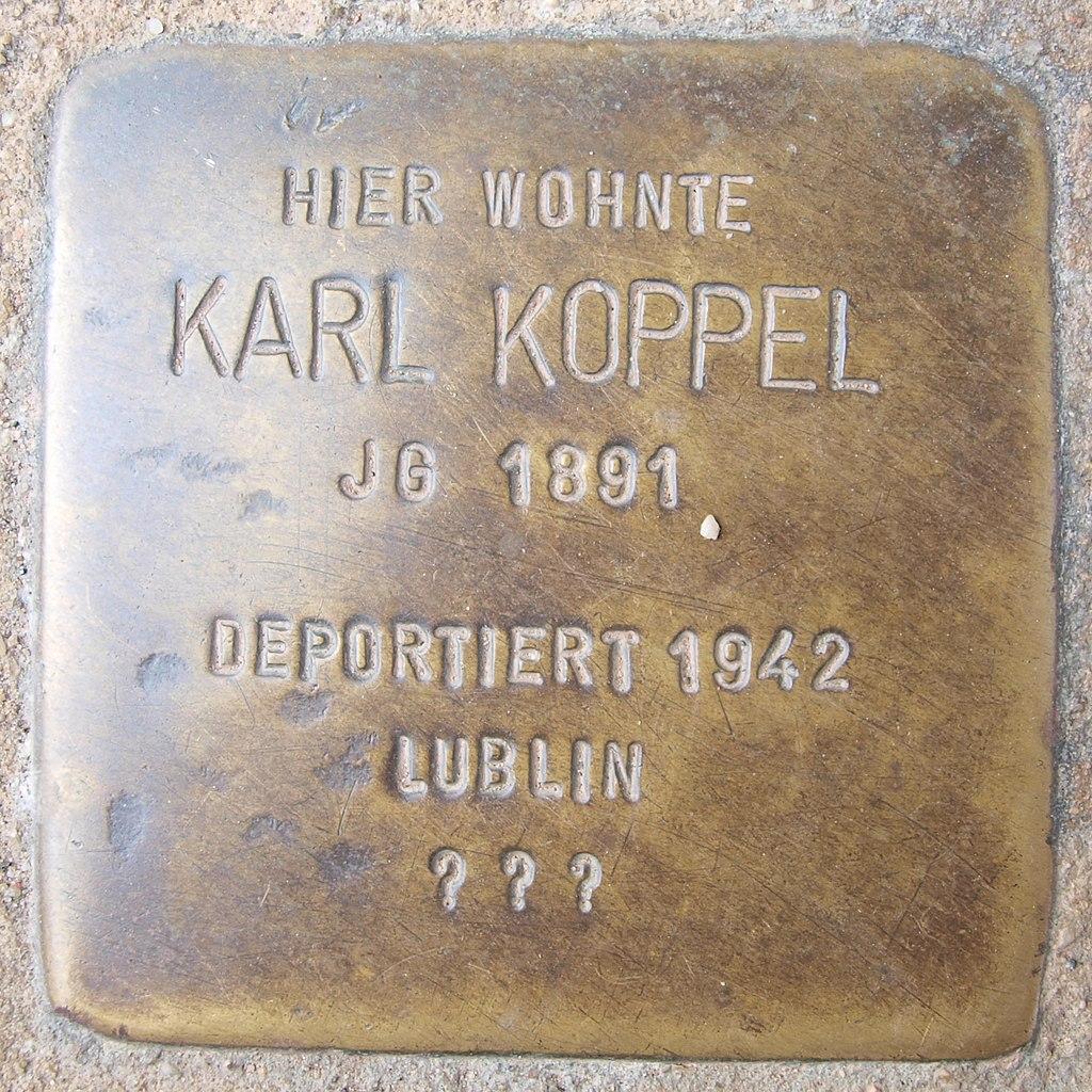 Stolperstein Bingen Rochusstraße 10 Karl Koppel.jpg
