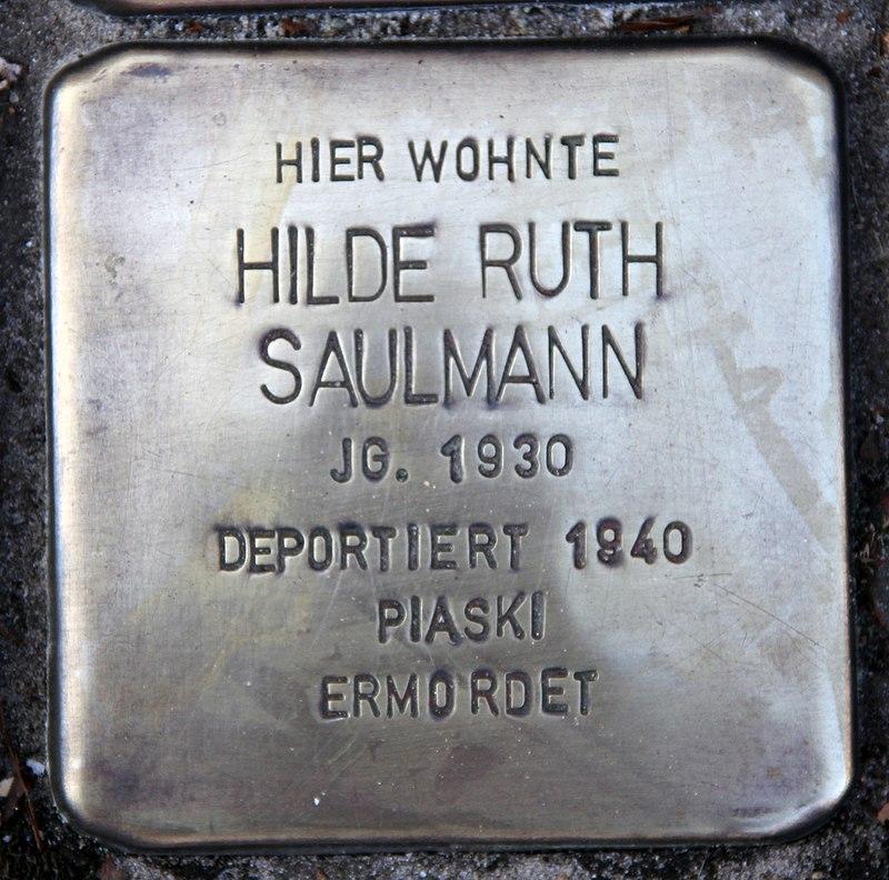 Stolperstein Friedenstr 17 (Heringsdorf) Hilde Ruth Saulmann.jpg
