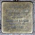 Stolperstein Gotenstr 73 (Schön) Johanna Baum.jpg