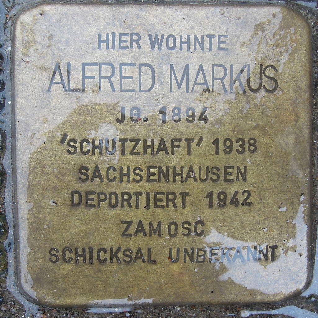 Stolperstein für Alfred Markus