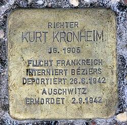 Photo of Kurt Kronheim brass plaque