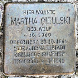 Photo of Martha Cibulski brass plaque