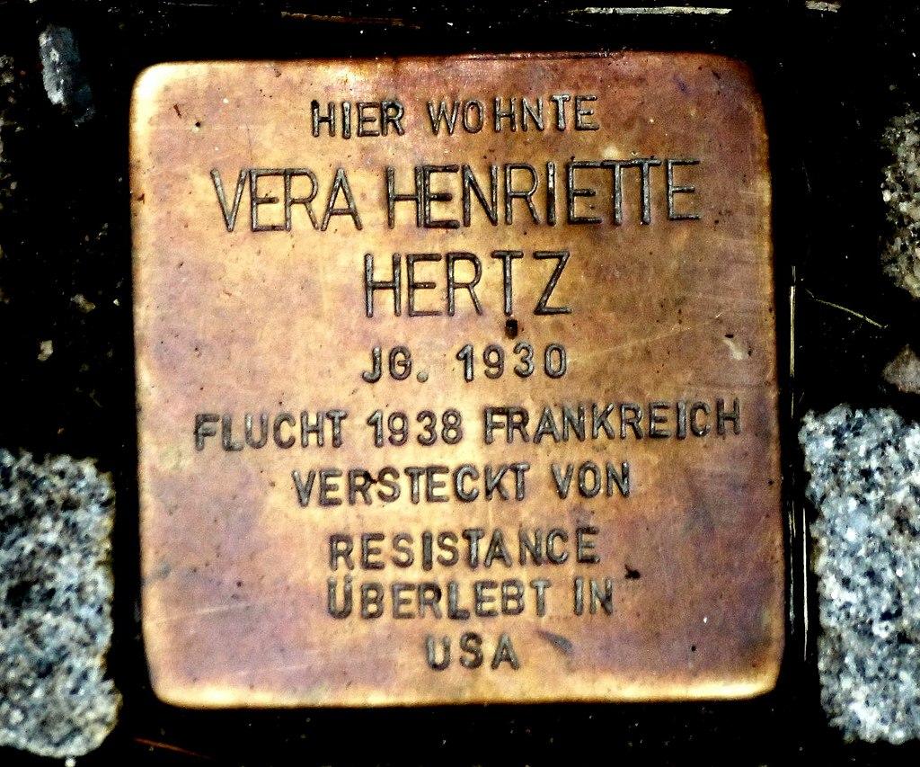 Stolperstein Vera Henriette Hertz, Guntersblum.JPG