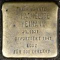 Stolpersteine Köln, Hannelore Heimann (Zülpicher Straße 302).jpg