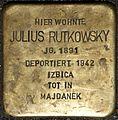 Stolpersteine Köln, Julius Rutkowsky (Mauritiuswall 85).jpg