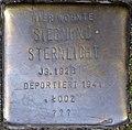 Stumbling stone for Siegmund Sternlicht (Zwirner Straße 33)