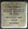 Stolpersteine Krefeld, Helga Zander (Ostwall 48).jpg