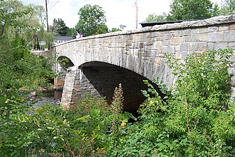 Contoocook, New Hampshire - Stone arch bridge over the Contoocook River in the village center