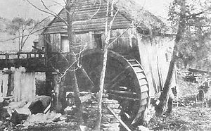 Loyston, Tennessee - Francis Stooksbury gristmill in Loyston, photographed in 1933