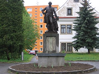 Stráž pod Ralskem - Statue of Joseph II in the town