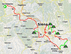 Route of the inaugural event