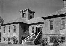 Stratford Hall .entrance Westmoreland Virginia