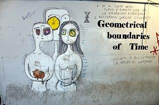 「時間の幾何学的境界」、トビリシのストリートアート。