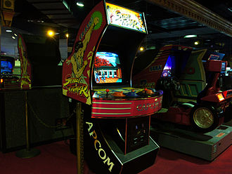 Street Fighter - A Street Fighter arcade cabinet